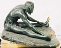 "View Bronze Statue & Base - ""L'Ecrivain"" or ""A Congo Artist"", by Herbert Ward digital asset number 3"