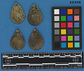 View Four Silver Amulets, Plaques 4 digital asset number 1