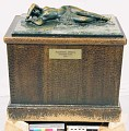 "View Bronze Statuette Of Reclining Woman - ""Sleeping Africa"", by Herbert Ward digital asset number 1"