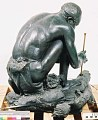 "View Bronze Statue & Base - ""Le Feu"" or ""The Fire Maker"", by Herbert Ward digital asset number 6"