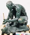 "View Bronze Statue & Base - ""Le Feu"" or ""The Fire Maker"", by Herbert Ward digital asset number 5"