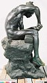 "View Bronze Statue & Base - ""L'Idole"" or ""The Idol Maker"", by Herbert Ward digital asset number 5"