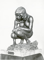 "View Bronze Statuette Of Crouching Woman - ""Crouching Woman"", by Herbert Ward digital asset number 0"