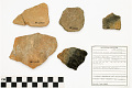 View Rincon Red-on-Brown Sherd, Rincon Red-on-Brown Sherd, Prehistoric Southwestern Pottery Fragments digital asset number 2