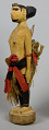 View Carved Figure Of Man With Cloth Skirt digital asset number 1