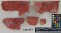 View Fragments Of Red Ornamented Bowl. (1 Lot) digital asset number 1