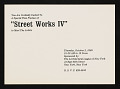 "View Architectural League of New York records digital asset: ""Street Works IV"" (Oct. 2-25, 1969) - Advertising, Poster"