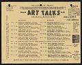 "View Artists Talk on Art records digital asset: Pre-ATOA ""Art Talks"" Flyer"