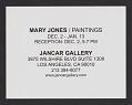View Jancar Gallery records digital asset: Exhibition Announcements