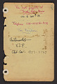 View Dorothy Liebes papers digital asset: Address Book