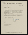 View Porter A. McCray papers digital asset: The Arts of Asia Foundation, Regarding Gift to McCray