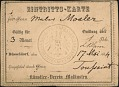 View Henry Mosler papers digital asset: Identification Cards and Notes