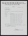 View Frank Stella papers digital asset: M. Knoedler & Co., Inc., New York