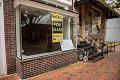 "View Black Lives Matter Protests Photographs digital asset: Storefront with ""Black Lives Matter"" sign in window"
