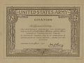 View H. H. Ashley Papers digital asset: United States Army  American Expeditionary Force Certificate