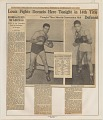 View Julian Black Scrapbooks of Joe Louis digital asset: Joe Louis vs. Gus Dorazio