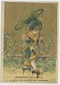 View [Belmont Bouquet trade card depicting Orientalized girl : trade card] digital asset: [Belmont Bouquet trade card depicting Orientalized girl : trade card]