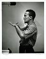 View Quincy Jones -- NYC [photoprint, black-and-white,] digital asset: Jones, Quincy; Recording Studio, New York City,1955