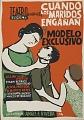 View Cuando los Maridos Enganan [screenprint poster] digital asset: Cuando los Maridos Enganan y Modelo Exclusivo