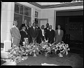 View Opening of Gulf Coastline service station, Oct[ober] 1957 [cellulose acetate photonegative] digital asset: untitled
