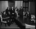 View V. [Vice] President Johnson conferring with Medical Association representatives, Feb[ruary] 1963 [cellulose acetate photonegative] digital asset: untitled