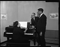 View Avon Stewart, H.U. Music Student, with Dean Lawson and Mrs. Grant, April 1963 [cellulose acetate photonegative] digital asset: untitled
