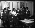 View Palmer [Memorial] Institute students visiting Associated Publishers, Oct[ober] 1963 [cellulose acetate photonegative] digital asset: untitled