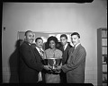 View Howard U[niversity] Law School Moot Court Team, Nov[ember] 1963 [cellulose acetate photonegative] digital asset: untitled