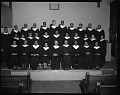 View Mt. Jezreel Baptist Church Choirs, Jan[uary] 1964 [cellulose acetate photonegative] digital asset: untitled
