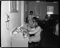 View Industrial Bank of Washington Ga. [Georgia] Ave. Branch (Employees at Machines), March 1964 [cellulose acetate photonegative] digital asset: untitled
