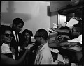 View Sidney Poitier at Howard [University], May 1964 [cellulose acetate photonegative] digital asset: untitled