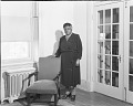 View [Mary McLeod Bethune standing near chair : acetate film photonegative] digital asset: untitled