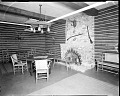 View [Y.M.C.A. sitting room with brick fireplace : acetate film photonegative,] digital asset: untitled