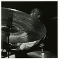 "View Francis Wolff Jazz Photoprints digital asset: Art Blakey at his January 24, 1962 session for ""The African Beat"" (Blue Note) at the Van Gelder Studio, Englewood Cliffs, New Jersey"