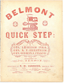 """View BMI Archives Confederate Sheet Music Collection digital asset: """"Belmont Quick Step"""""""
