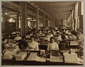 View American Bank Note Company Records digital asset: Photograph album, contains image of plant, shop floors, employee cafeteria and infirmary
