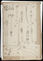 View MS 1881 Miscellaneous bound drawings of pipes and stone objects digital asset: Miscellaneous bound drawings of pipes and stone objects