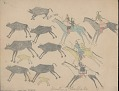 View MS 39-a Book of drawings by unidentified Cheyenne artist at Fort Marion, Florida digital asset: Book of drawings by unidentified Cheyenne artist at Fort Marion, Florida