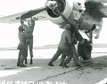 Technicians prepare B-25