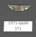 View Pin, Lapel, Western Airlines digital asset number 1