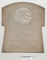 View Plaque, Aero Club of France, Frank Lahm, 1906 digital asset number 1