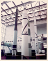 View Rocket, Launch Vehicle, Jupiter-C, Replica, with Explorer 1 Satellite, Replica digital asset number 0