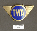 View Badge, Cap, Station Manager & Foreman, Transcontinental & Western Air Inc. (TWA) digital asset number 1
