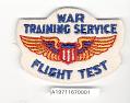View Badge, Flight Test, War Training Service, Civil Aeronautic Administration digital asset number 1