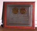 View Plaque, Apollo 11 Commemorative, Michael Collins digital asset number 1