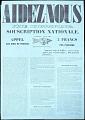 View Aidez-Nous Fete Scientifique Souscription National digital asset number 0