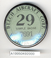 View Badge, Identification, Beech Aircraft Co. digital asset number 1