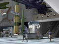 Rendering of Boeing Milestones of Flight Hall