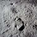 Aldrin Boot Print on Moon