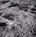 "Surveyor 3 ""Footprint"" on Moon"